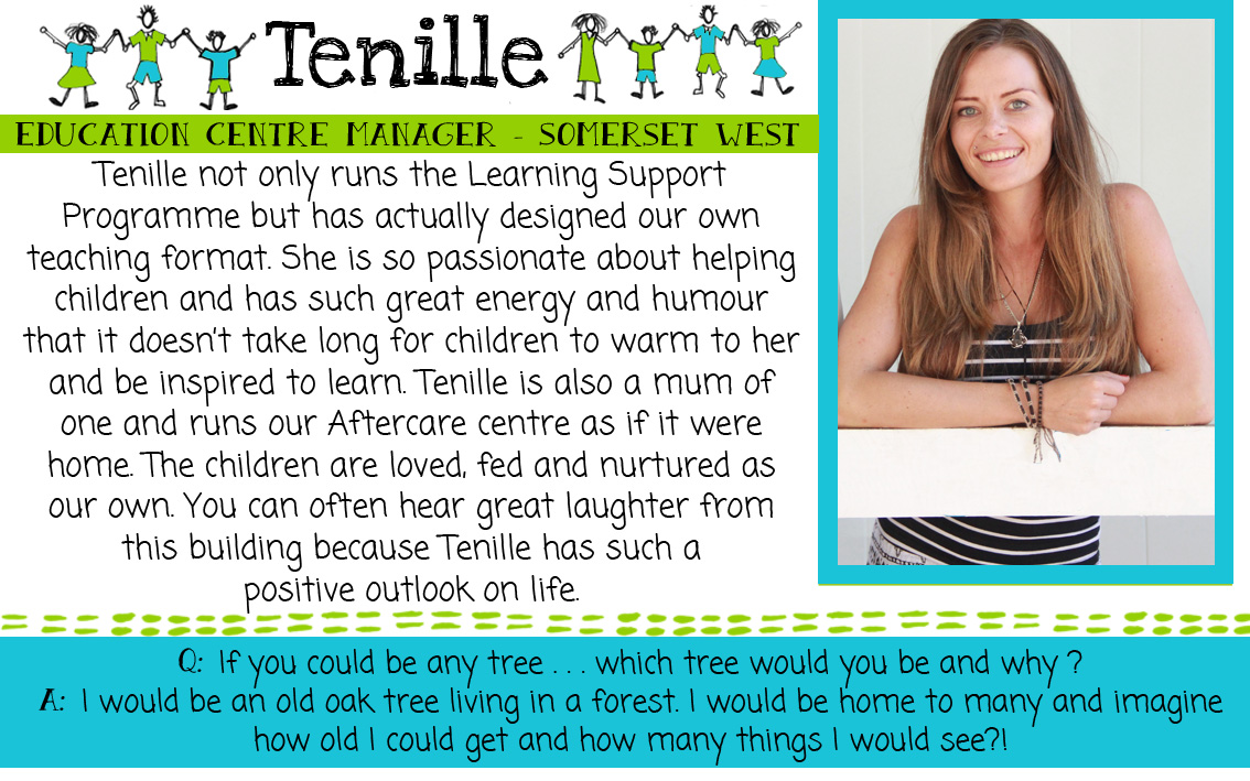 Tenille: SOS Africa Somerset West, Western Cape
