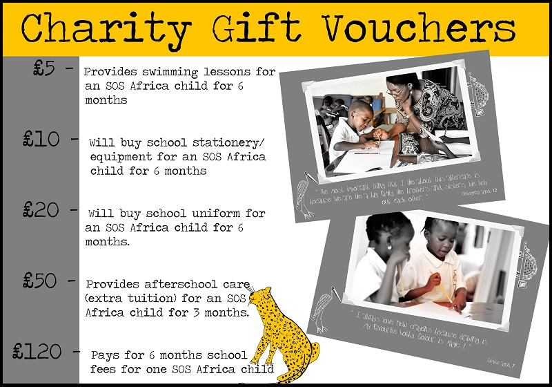 SOS Africa Charity Gift Cards and Voucher
