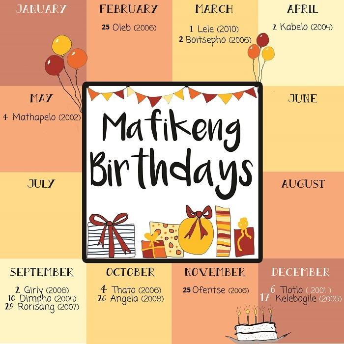 SOS Africa Mafikeng Children's Birthdays
