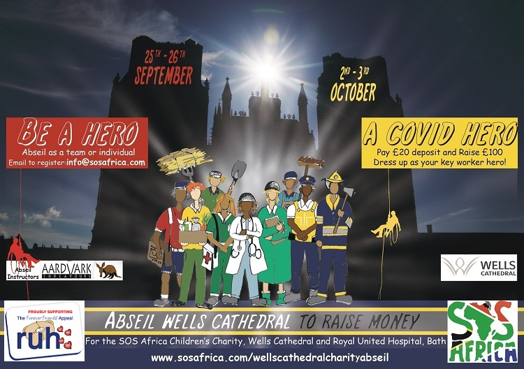 Wells Cathedral COVID Heroes Charity Abseil Event | Fundraise for NHS & SOS Africa