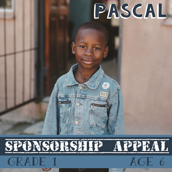 Sponsor a child in Africa - Pascal, Age 6, Grabouw